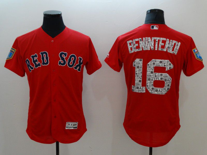 Men Boston Red Sox 16 Benintehdi Red Elite Spring Edition MLB Jerseys