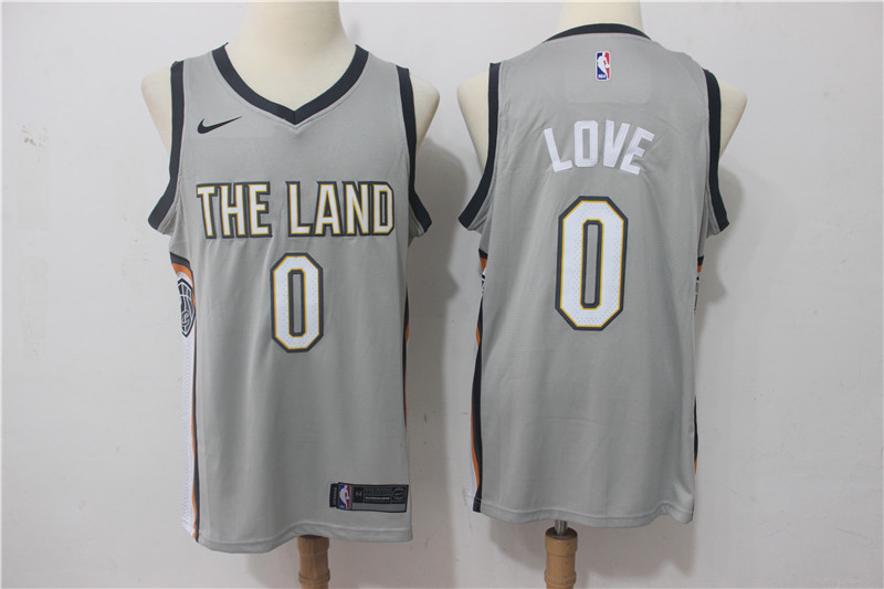 Men Cleveland Cavaliers 0 Love Grey Game Nike NBA Jerseys
