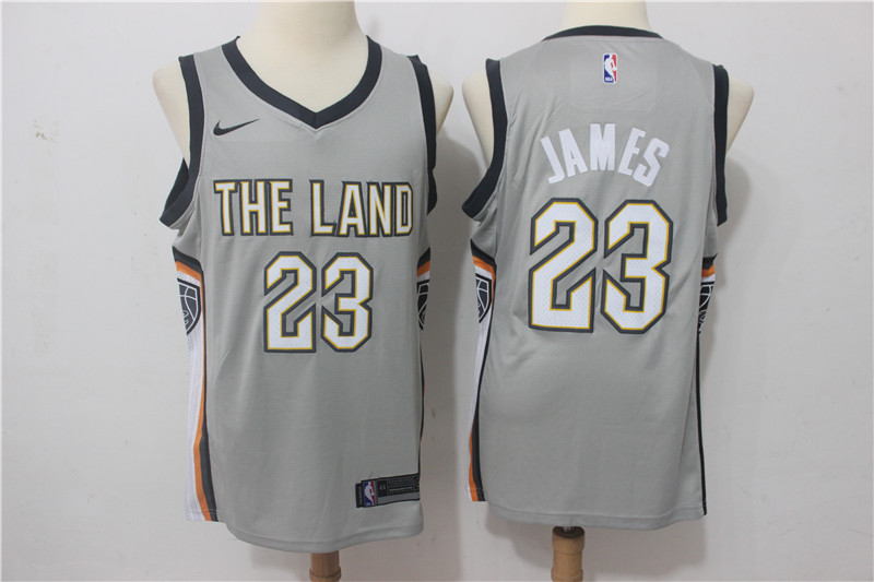 Men Cleveland Cavaliers 23 James Grey Game Nike NBA Jerseys