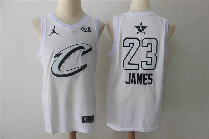 Men Cleveland Cavaliers 23 James White 2108 All Stars NBA Jerseys