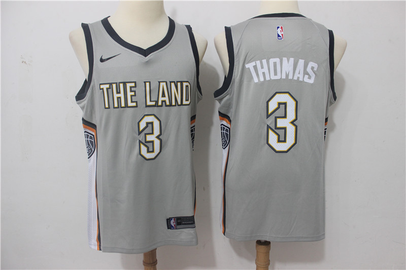 Men Cleveland Cavaliers 3 Thomas Grey Game Nike NBA Jerseys