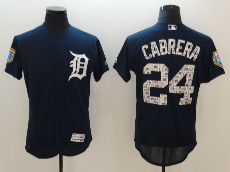 Men Detroit Tigers 24 Cabrera Blue Elite Spring Edition MLB Jerseys