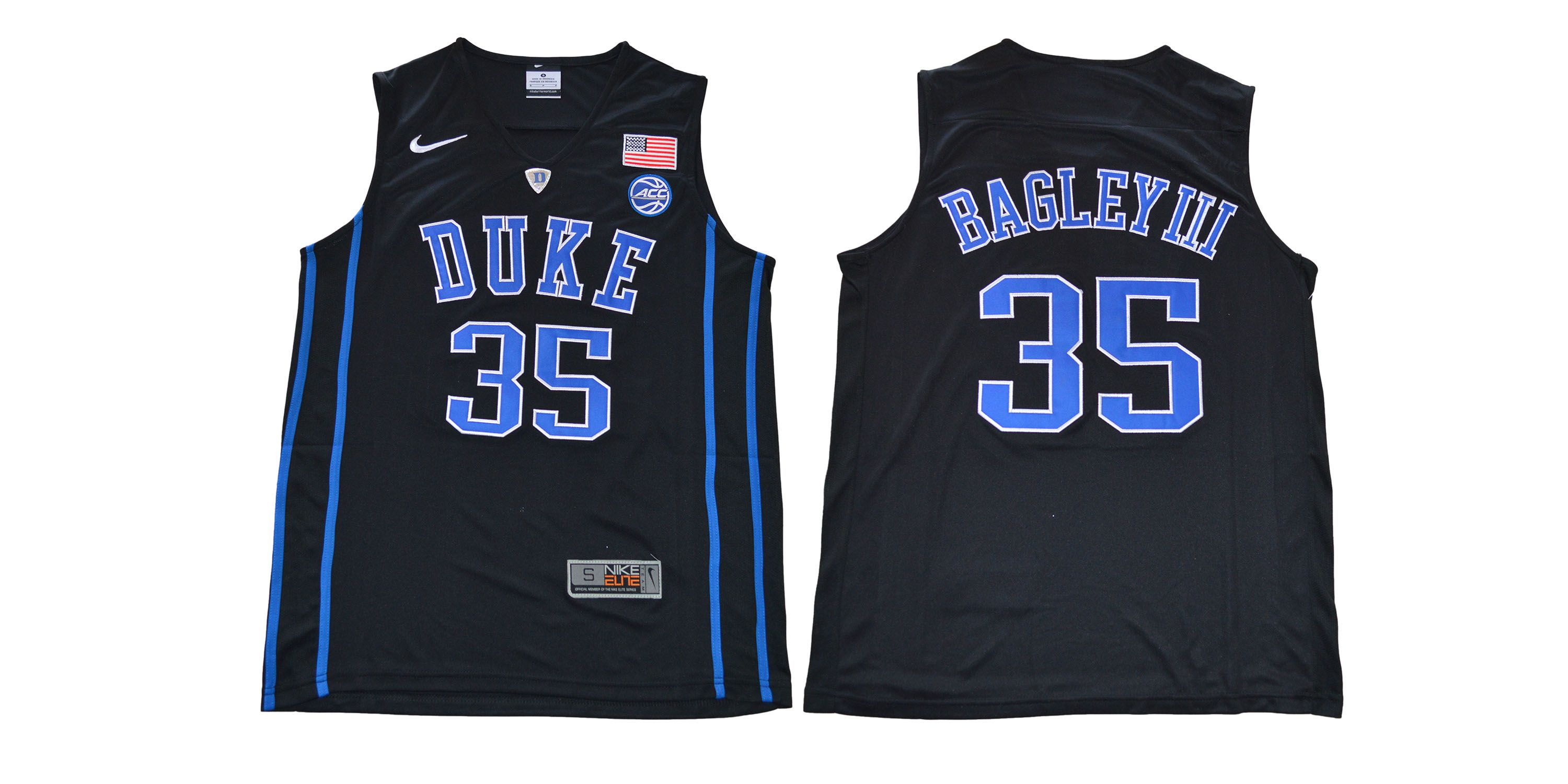 Men Duke Blue Devils 35 Bagleyiii Black NBA NCAA Jerseys