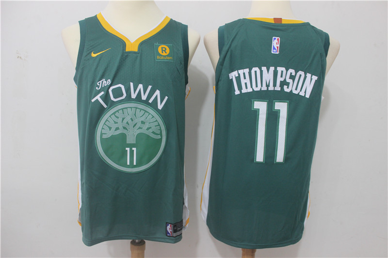 Men Golden State Warriors 11 Thompson Green Game Nike NBA Jerseys1