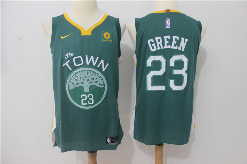 Men Golden State Warriors 23 Green Green Game Nike NBA Jerseys