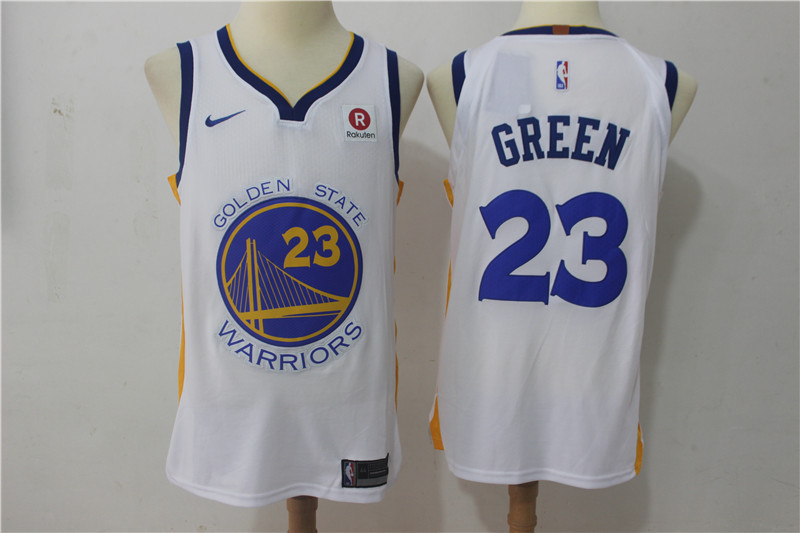 Men Golden State Warriors 23 Green White Game Nike NBA Jerseys