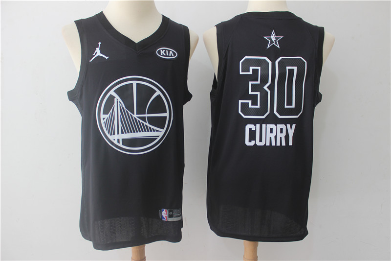 Men Golden State Warriors 30 Curry Black 2108 All Stars NBA Jerseys