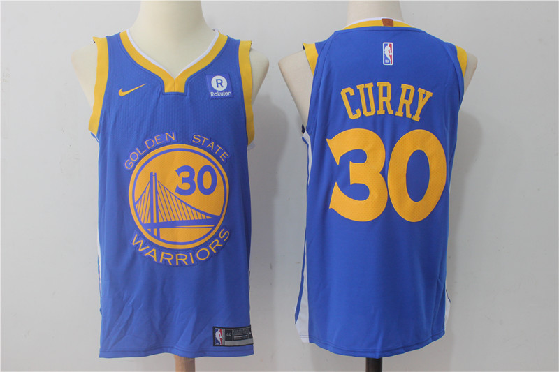 Men Golden State Warriors 30 Curry Blue Game Nike NBA Jerseys
