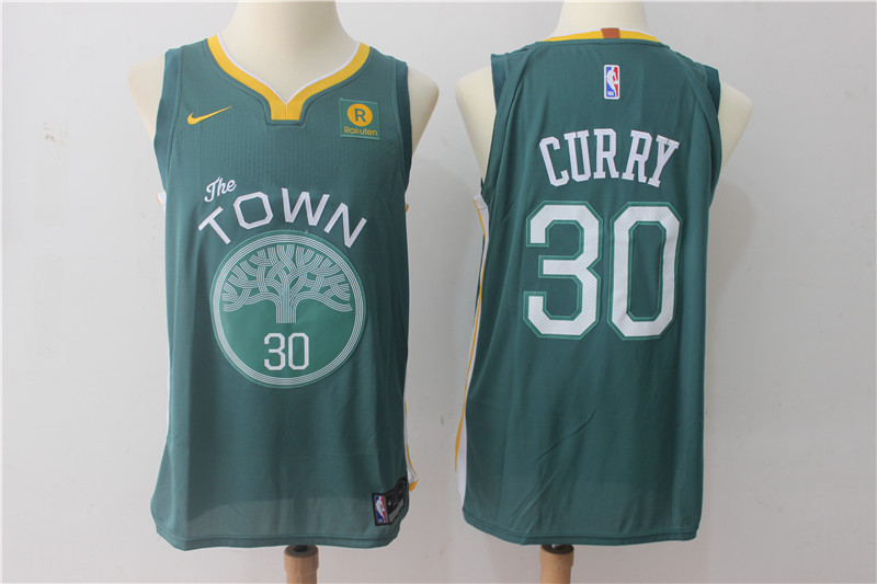Men Golden State Warriors 30 Curry Green Game Nike NBA Jerseys