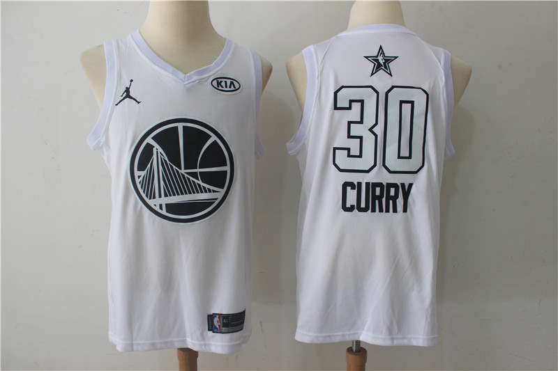 Men Golden State Warriors 30 Curry White 2108 All Stars NBA Jerseys
