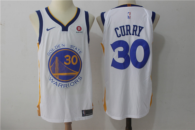 Men Golden State Warriors 30 Curry White Game Nike NBA Jerseys