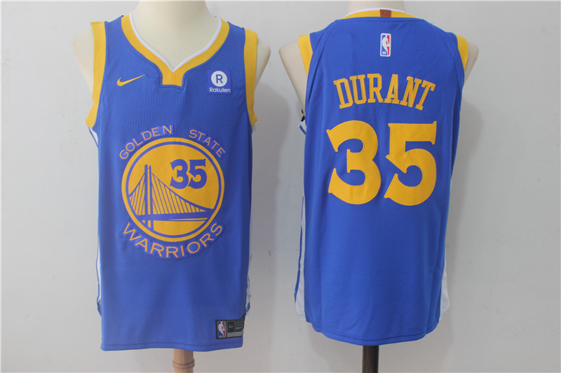 Men Golden State Warriors 35 Durant Blue Game Nike NBA Jerseys