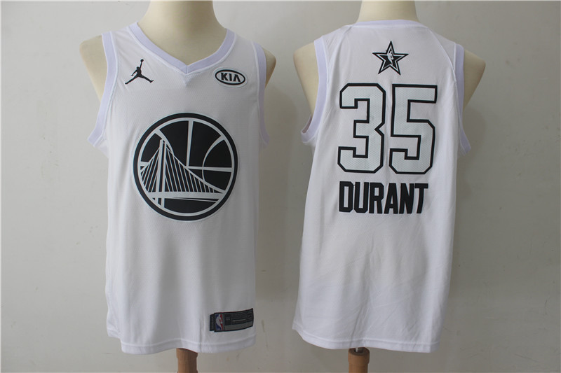 Men Golden State Warriors 35 Durant White 2108 All Stars NBA Jerseys