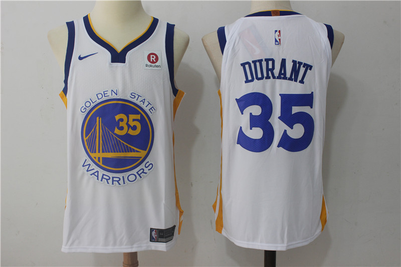 Men Golden State Warriors 35 Durant White Game Nike NBA Jerseys