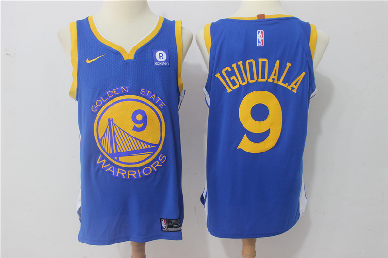 Men Golden State Warriors 9 Iguodala Blue Game Nike NBA Jerseys
