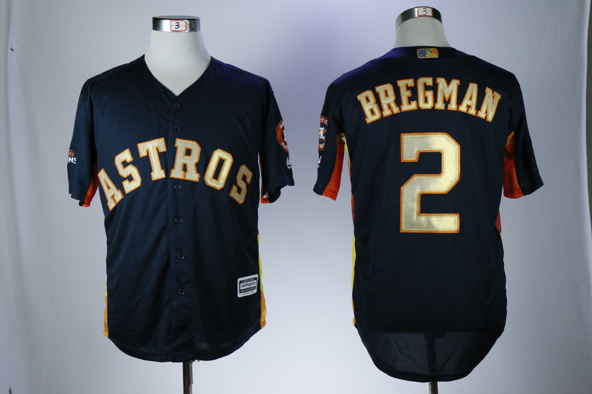 Men Houston Astros 2 Bregman Blue Game Champion Edition MLB Jerseys
