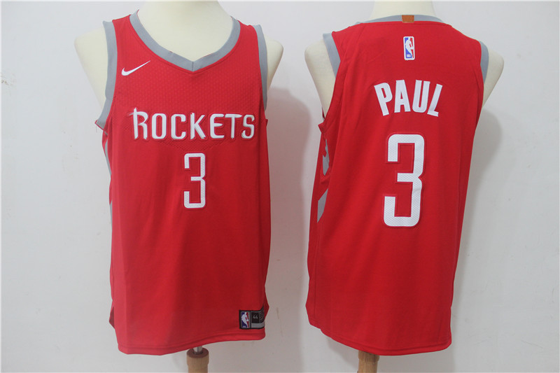 Men Houston Rockets 3 Paul Red Game Nike NBA Jerseys
