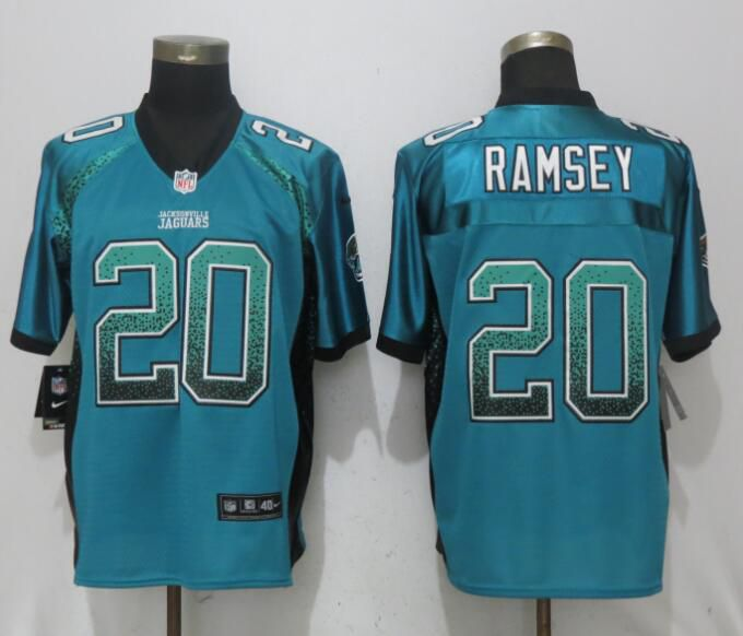 Men Jacksonville Jaguars 20 Ramsey Drift Fashion Green Nike Elite NFL Jerseys