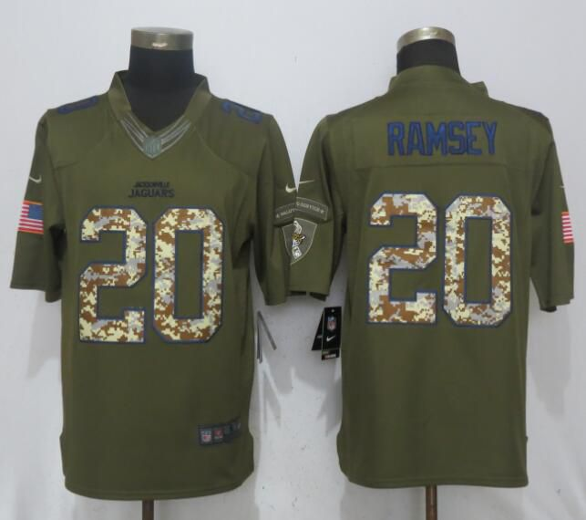 Men Jacksonville Jaguars 20 Ramsey Green Salute To Service Nike Limited NFL Jerseys