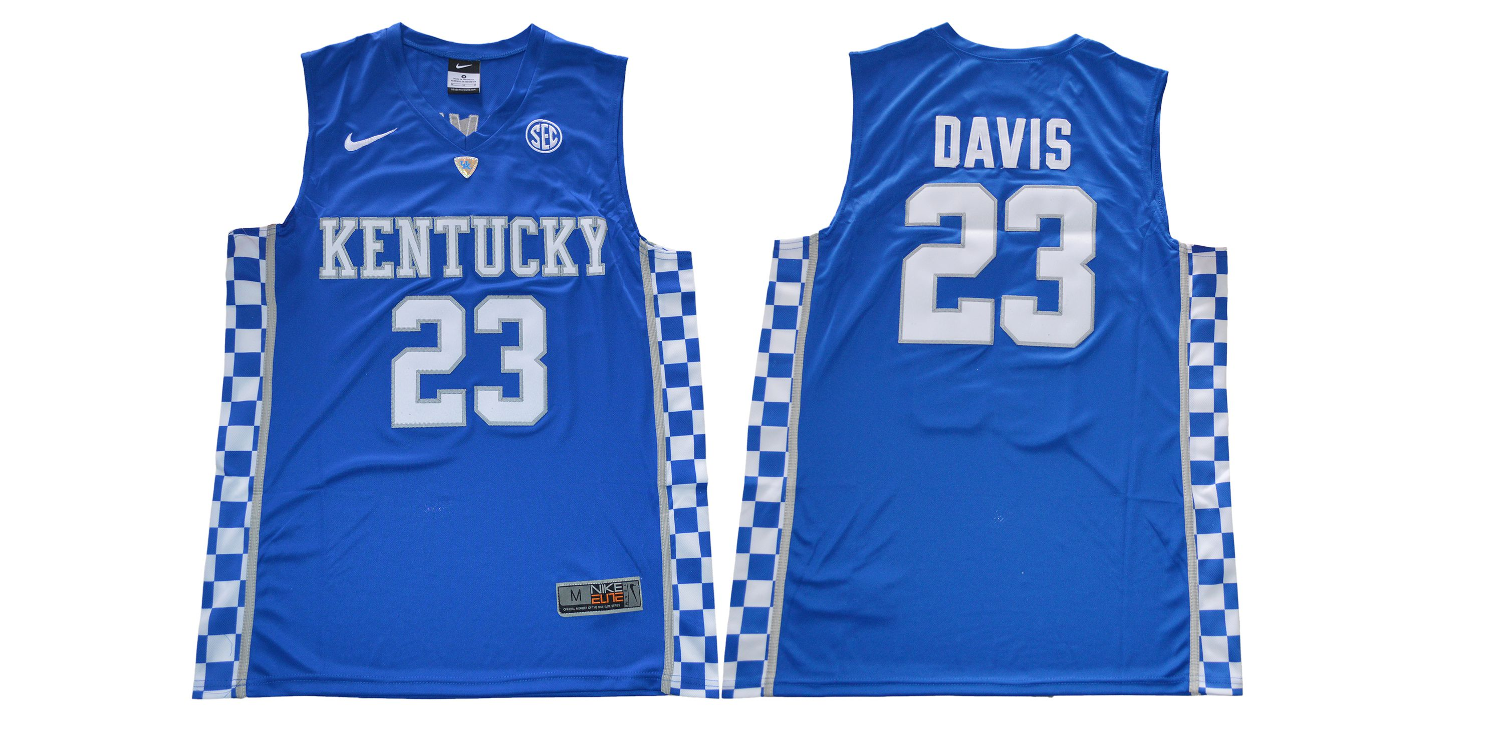 Men Kentucky Wildcats 23 Davis Blue NBA NCAA Jerseys
