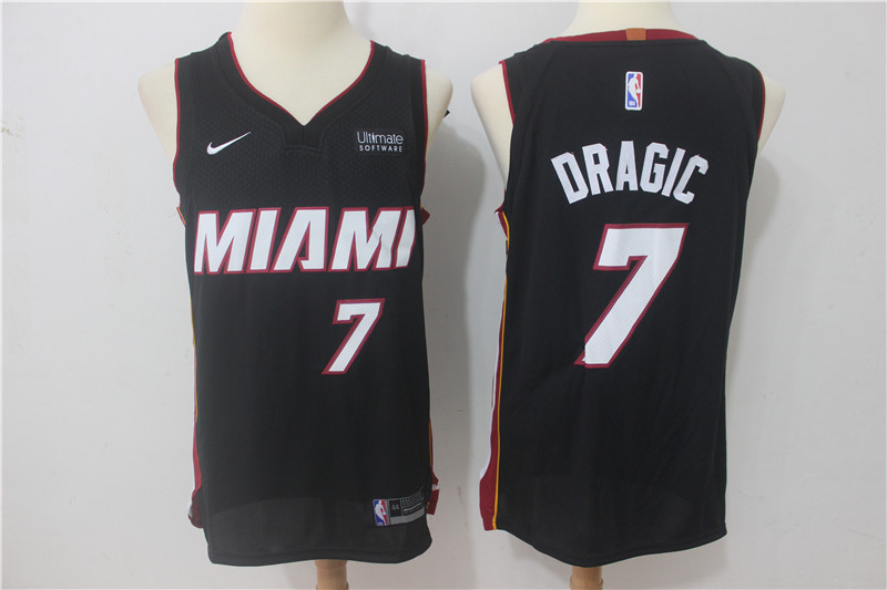 Men Miami Heat 7 Dragic Black Game Nike NBA Jerseys
