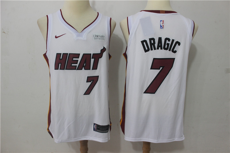 Men Miami Heat 7 Dragic White Game Nike NBA Jerseys