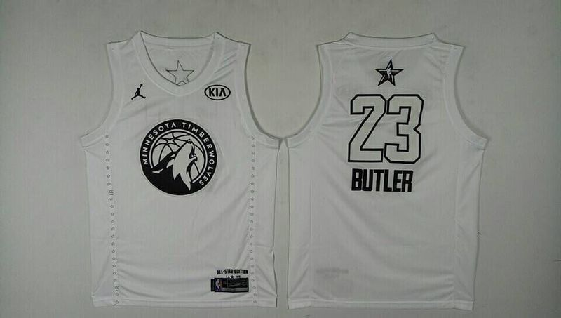 Men Minnesota Timberwolves 23 Butler White 2108 All Stars NBA Jerseys