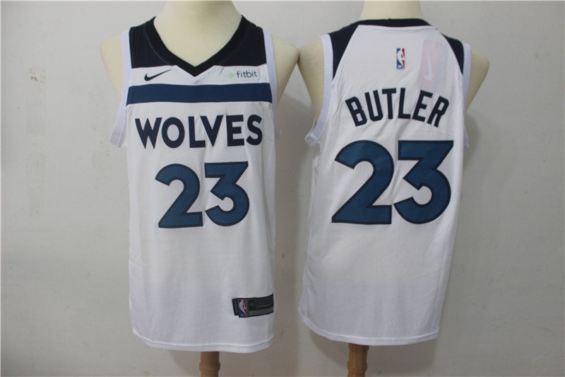 Men Minnesota Timberwolves 23 Butler White Game Nike NBA Jerseys