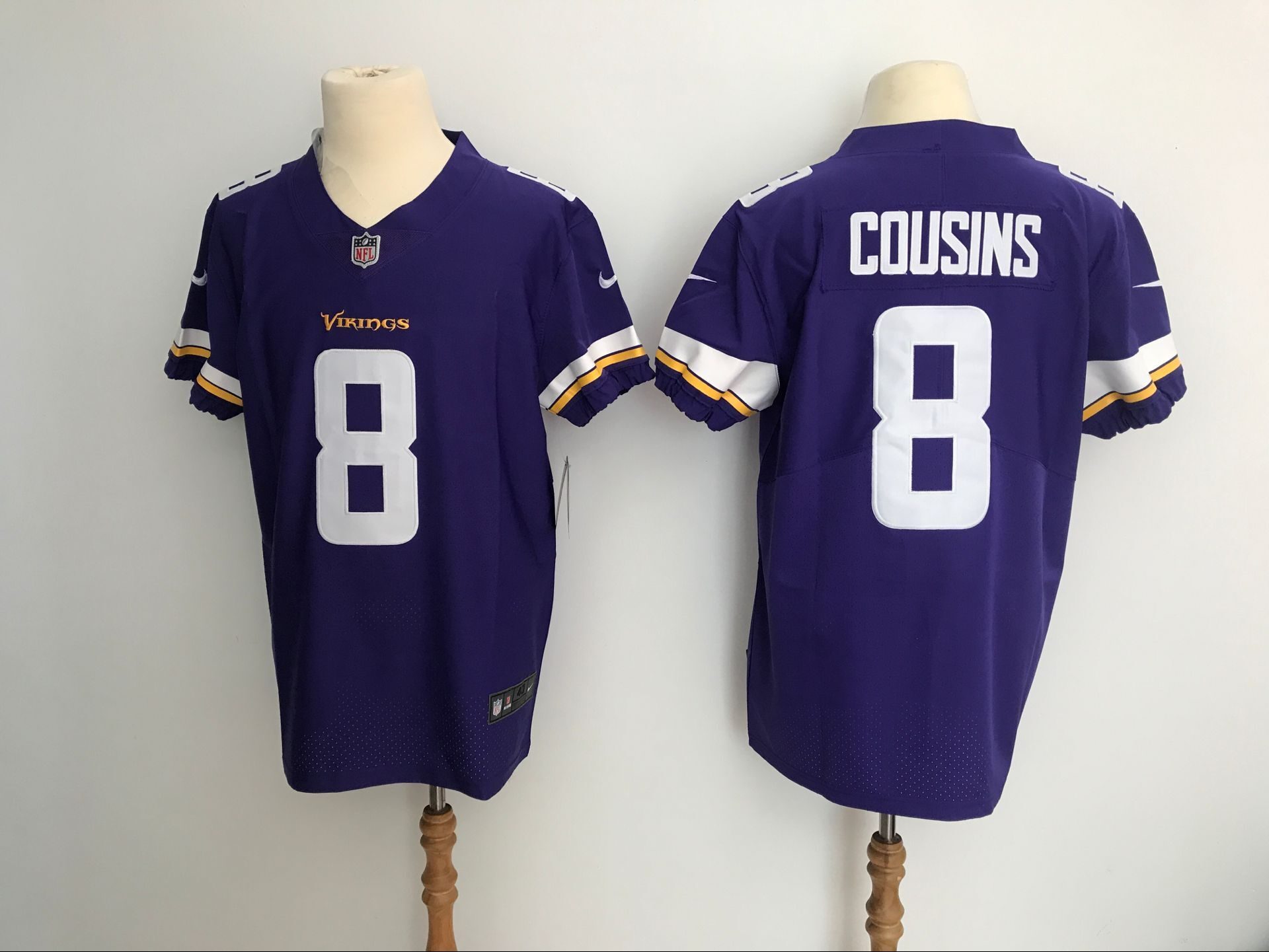 Men Minnesota Vikings 8 Cousins Purple Nike Elite NFL Jerseys