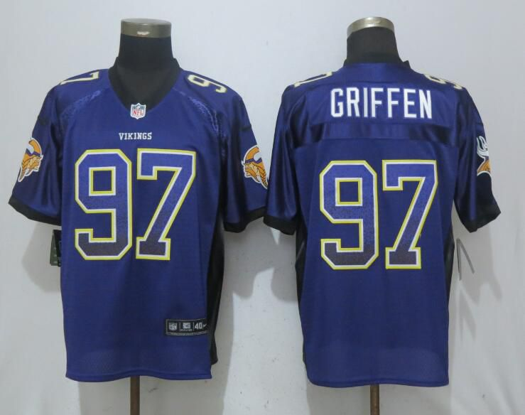 Men Minnesota Vikings 97 Griffen Drift Fashion Purple NEW Nike Elite NFL Jerseys