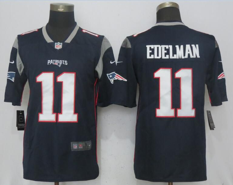 Men New England Patriots 11 Edelman Navy Blue 2017 Vapor Untouchable New Nike Limited Playe NFL Jerseys