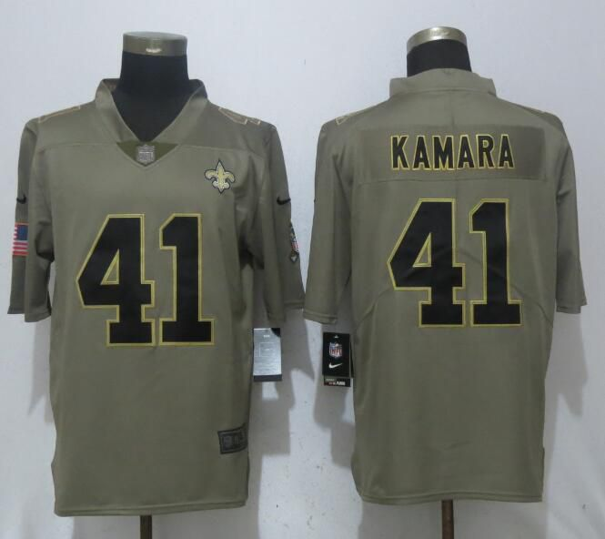 Men New Orleans Saints 41 Kamara Olive Salute To Service New Nike Limited NFL Jerseys