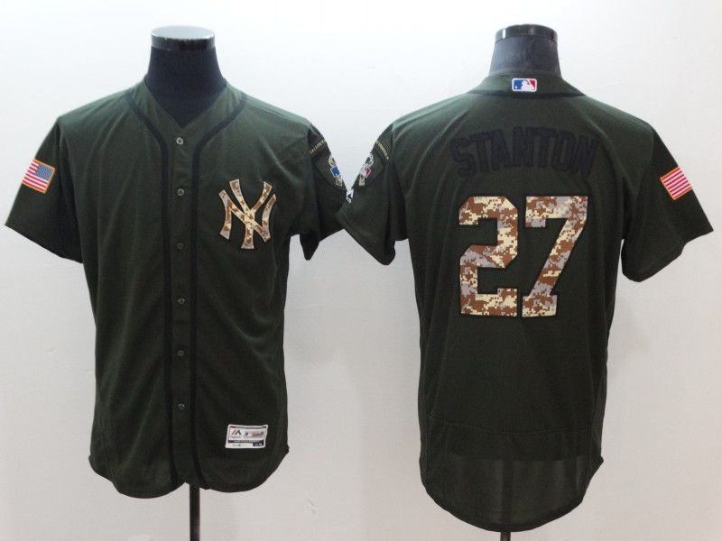 Men New York Yankees 27 Stanton Elite Spring Edition MLB Jerseys