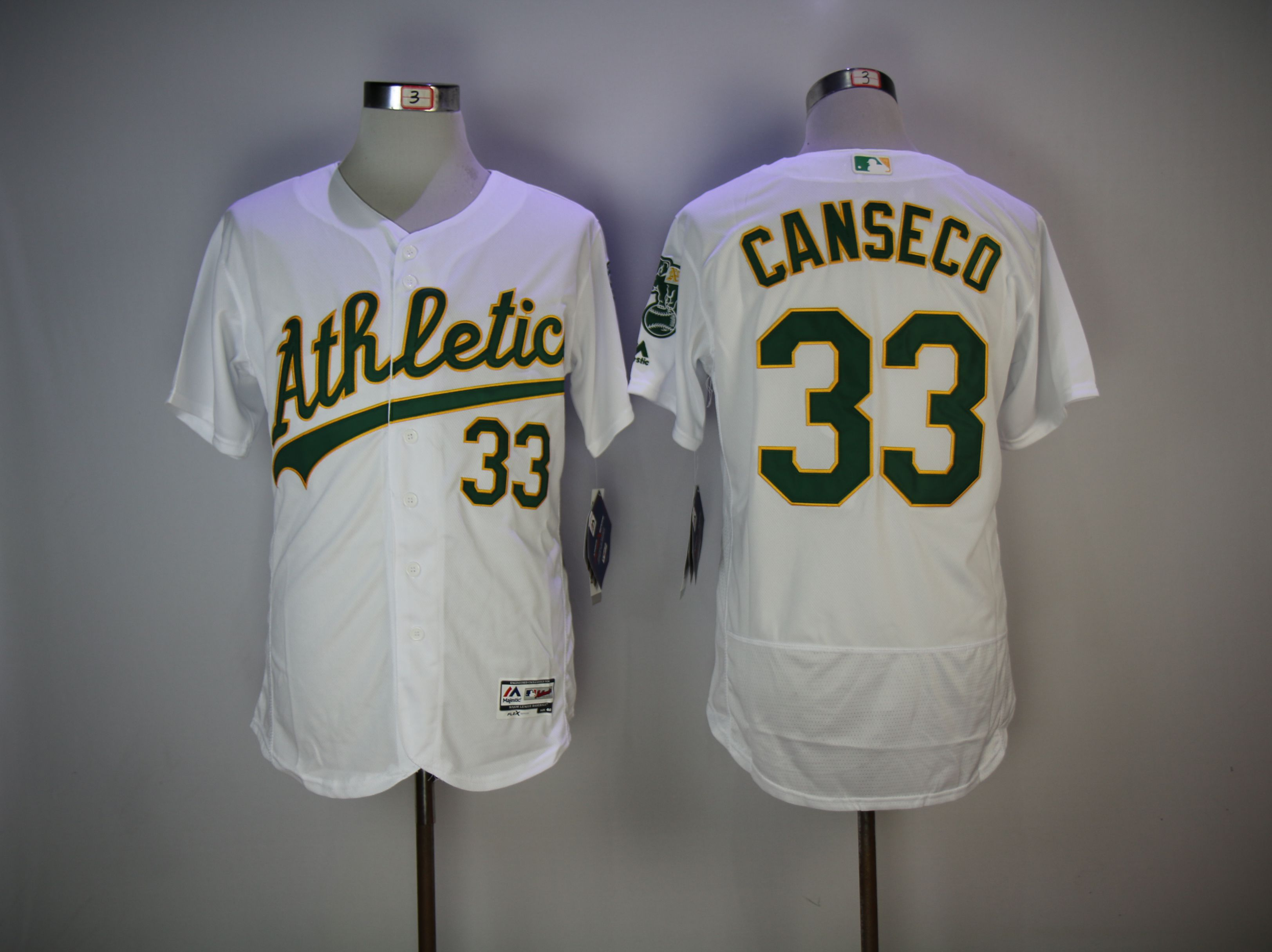 Men Oakland Athletics 33 Canseco White Elite MLB Jerseys