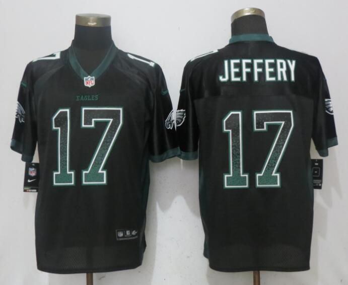 Men Philadelphia Eagles 17 Jeffery Drift Fashion Black NEW Nike Elite NFL Jerseys