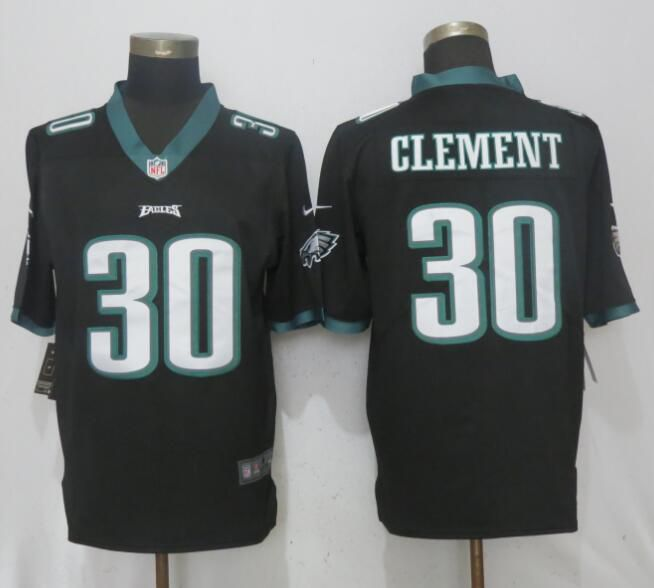 Men Philadelphia Eagles 30 Clement Black 2017 Vapor Untouchable NEW Nike Limited Playey NFL Jerseys