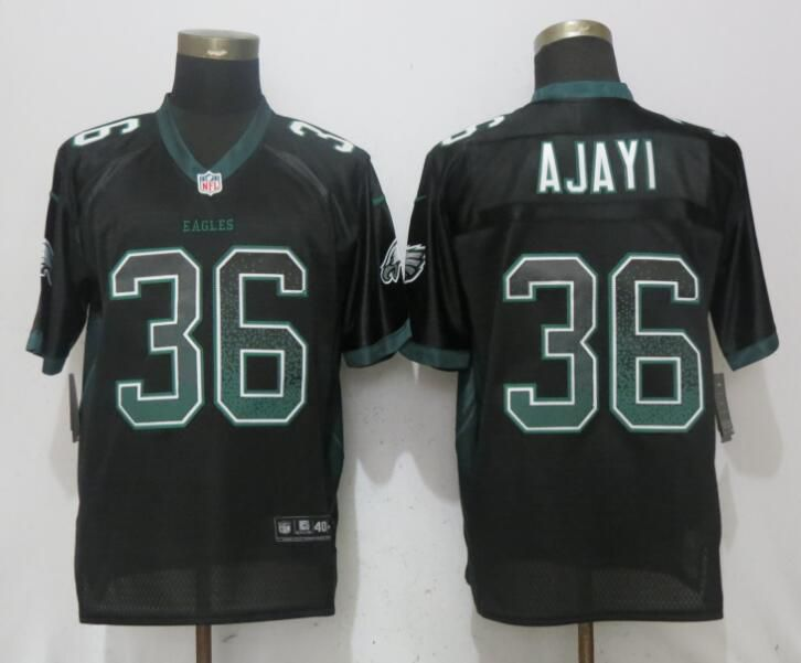 Men Philadelphia Eagles 36 Ajayi Drift Fashion Black NEW Nike Elite NFL Jerseys