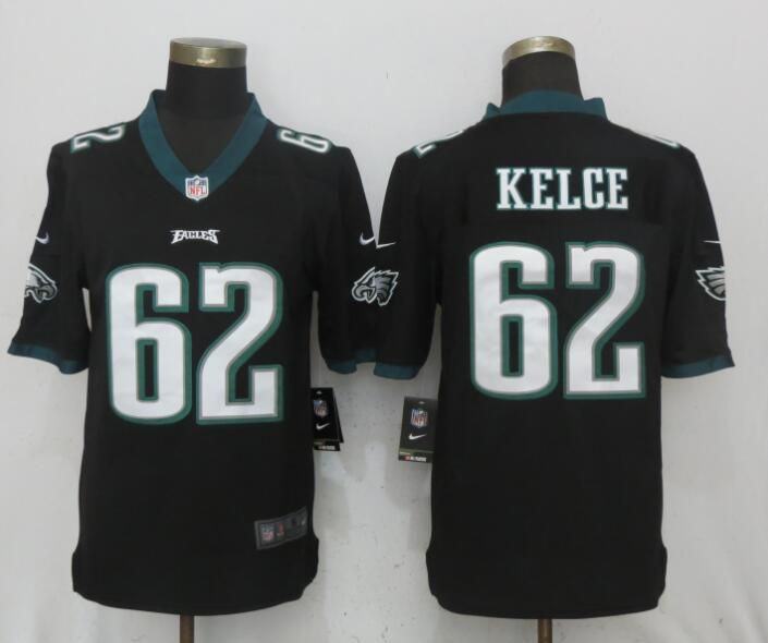 Men Philadelphia Eagles 62 Kelce Black Vapor Untouchable NEW Nike Limited Playey NFL Jerseys