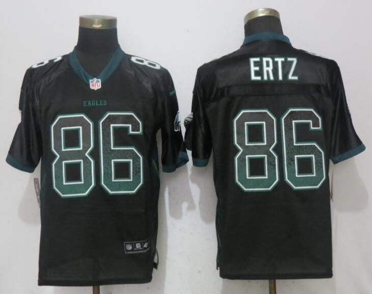 Men Philadelphia Eagles 86 Ertz Drift Fashion Black NEW Nike Elite NFL Jerseys