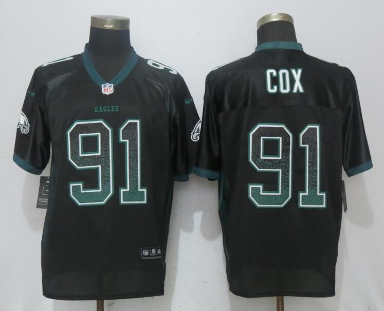 Men Philadelphia Eagles 91 Cox Drift Fashion Black NEW Nike Elite NFL Jerseys