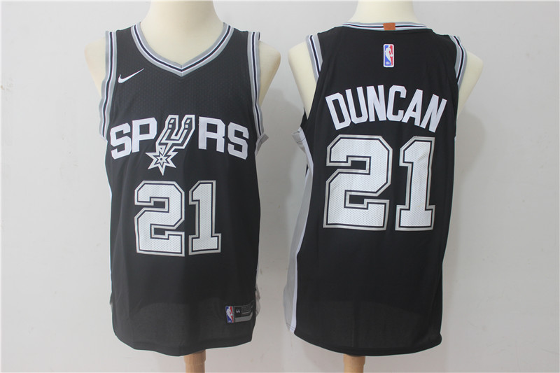 Men San Antonio Spurs 21 Duncan Black Game Nike NBA Jerseys