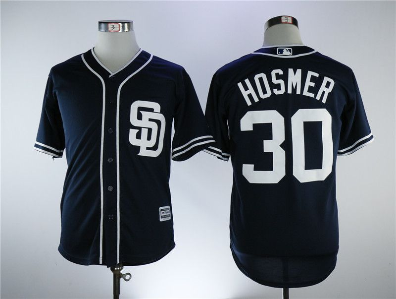 Men San Diego Padres 30 Hosmer Blue Game MLB Jerseys