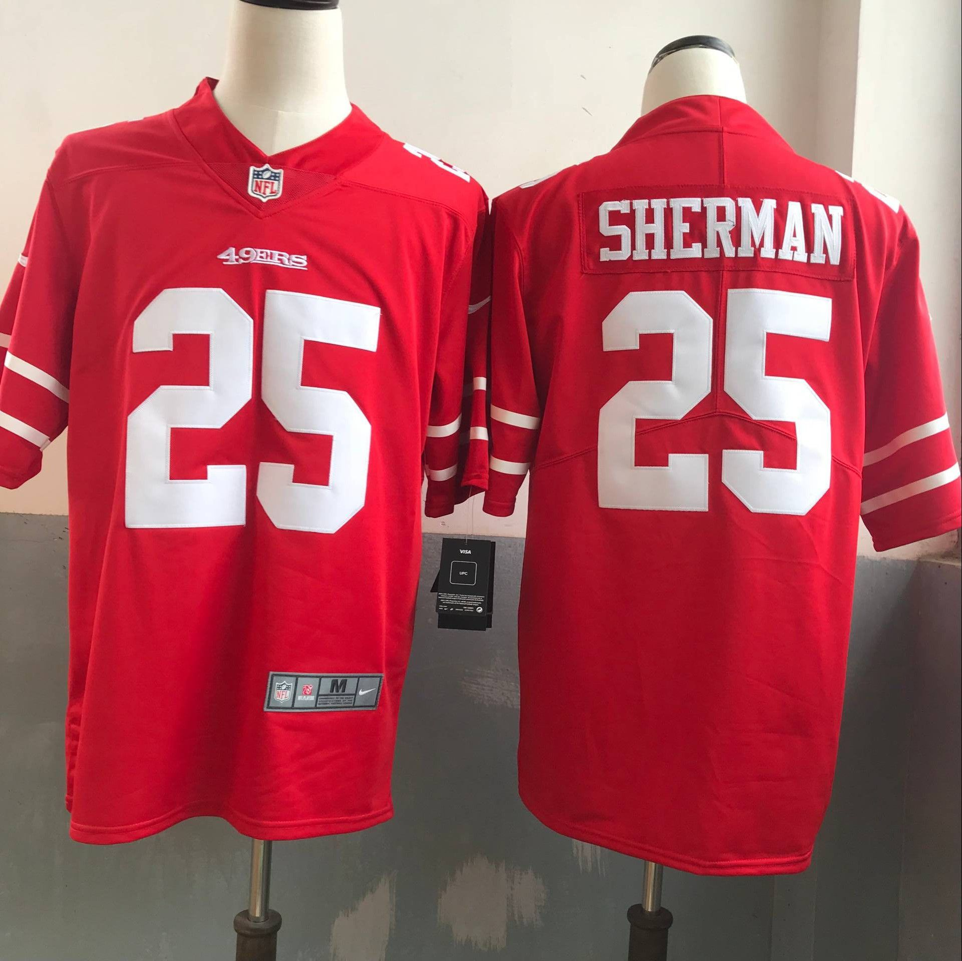 Men San Francisco 49ers 25 Sherman Red Nike Vapor Untouchable Limited NFL Jerseys
