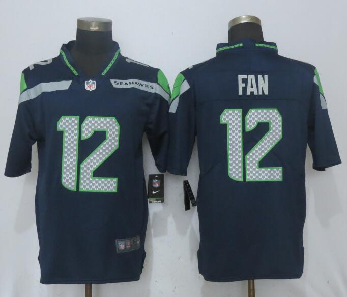 Men Seattle Seahawks 12 Fan Navy Blue 2017 Vapor Untouchable New Nike  Limited Player NFL Jerseys 608c4ab27