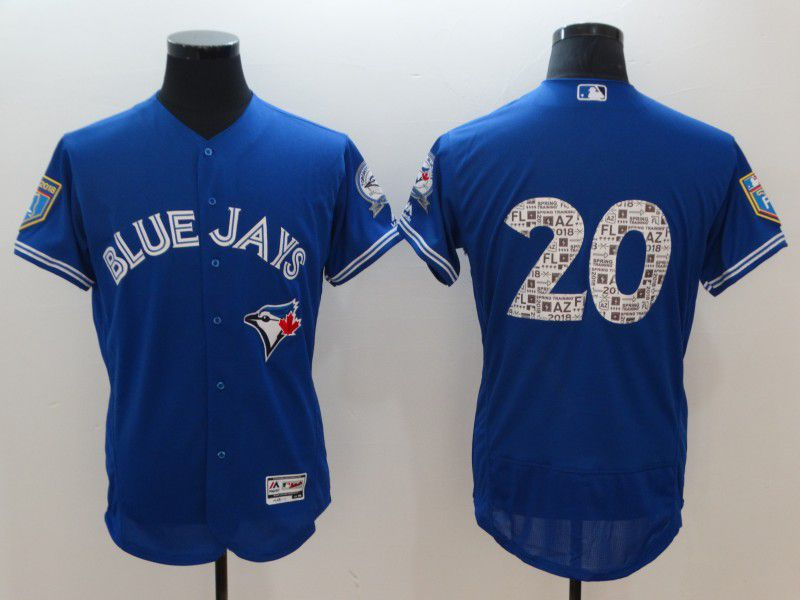 Men Toronto Blue Jays 20 Donaldson Blue Elite Spring Edition MLB Jerseys