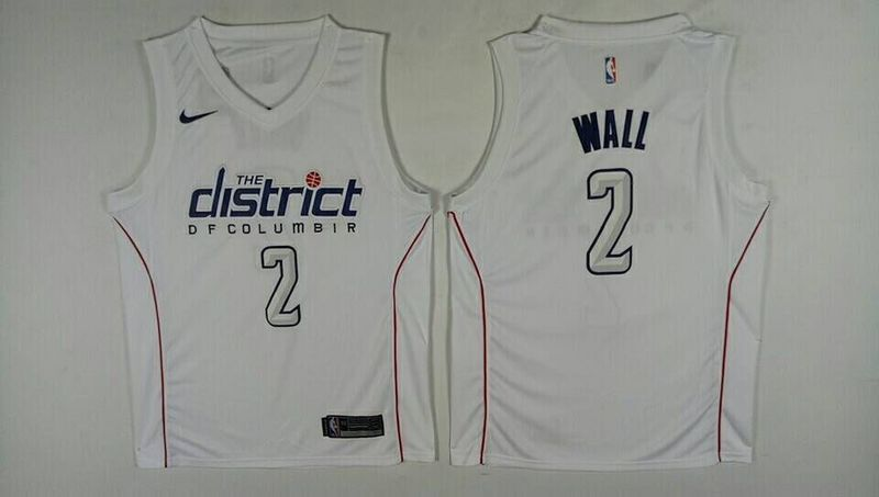 Men Washington Wizards 2 Wall White City Edition Nike NBA Jerseys