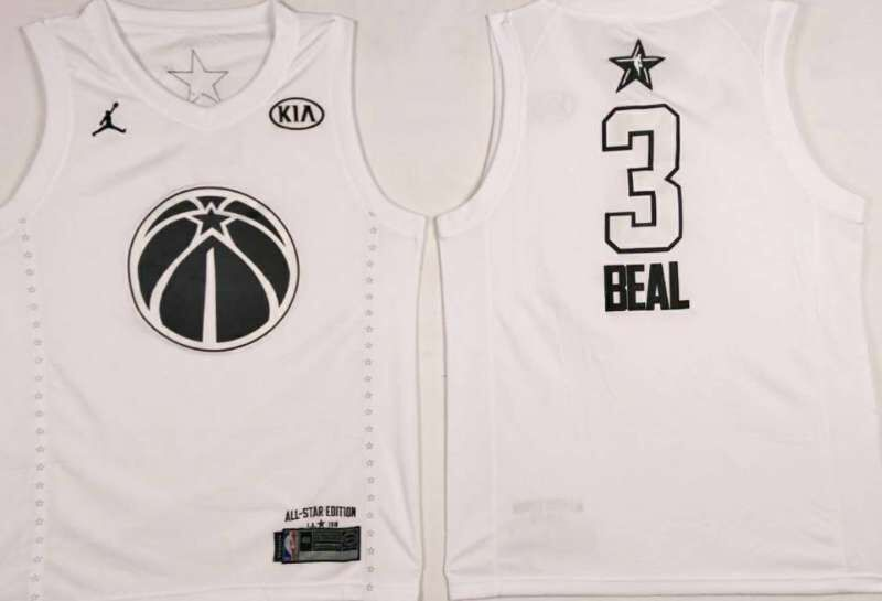 Men Washington Wizards 3 Beal White 2108 All Stars NBA Jerseys