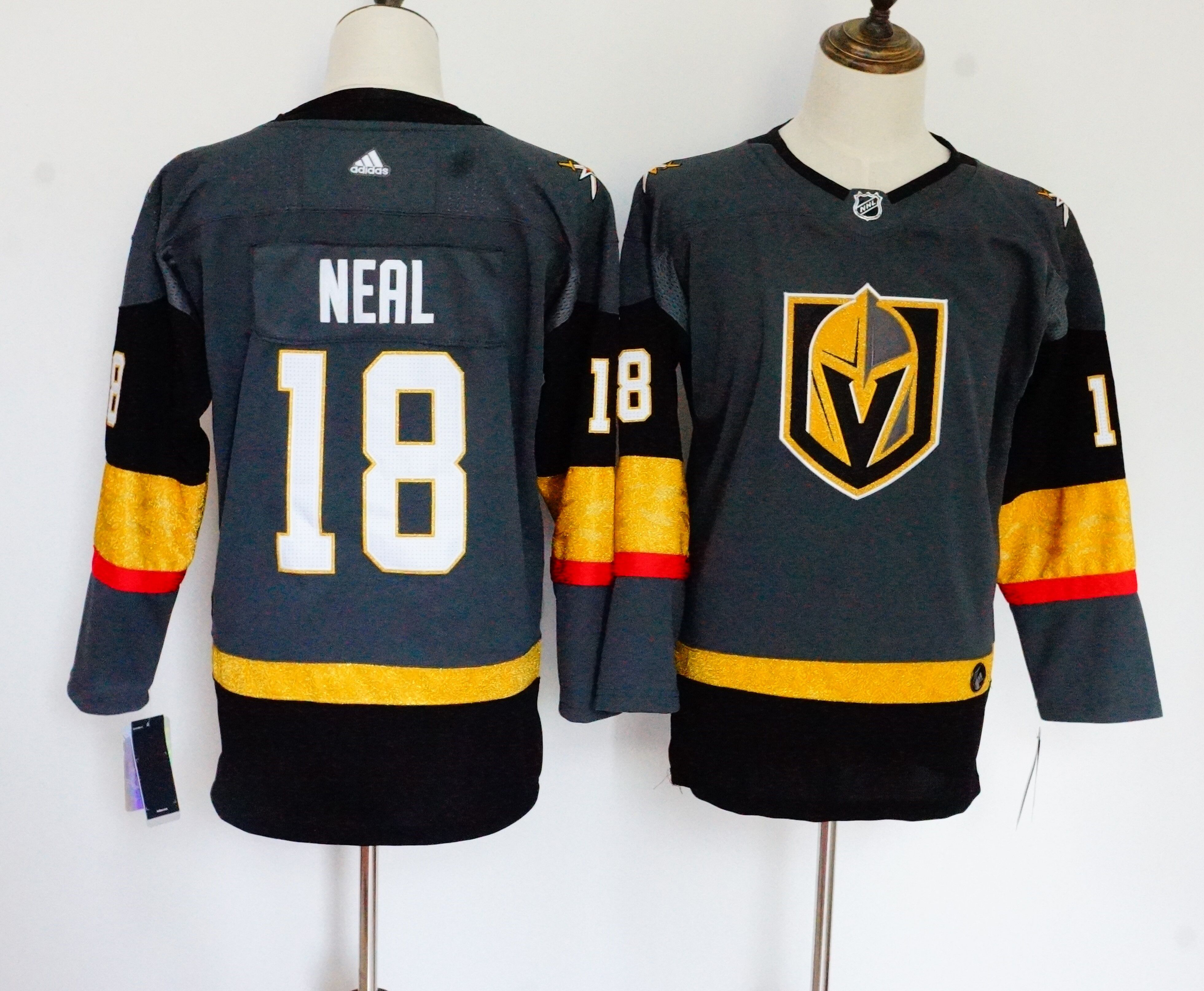 free shipping 3160f e5059 adidas vegas golden knights 18 james neal white road ...
