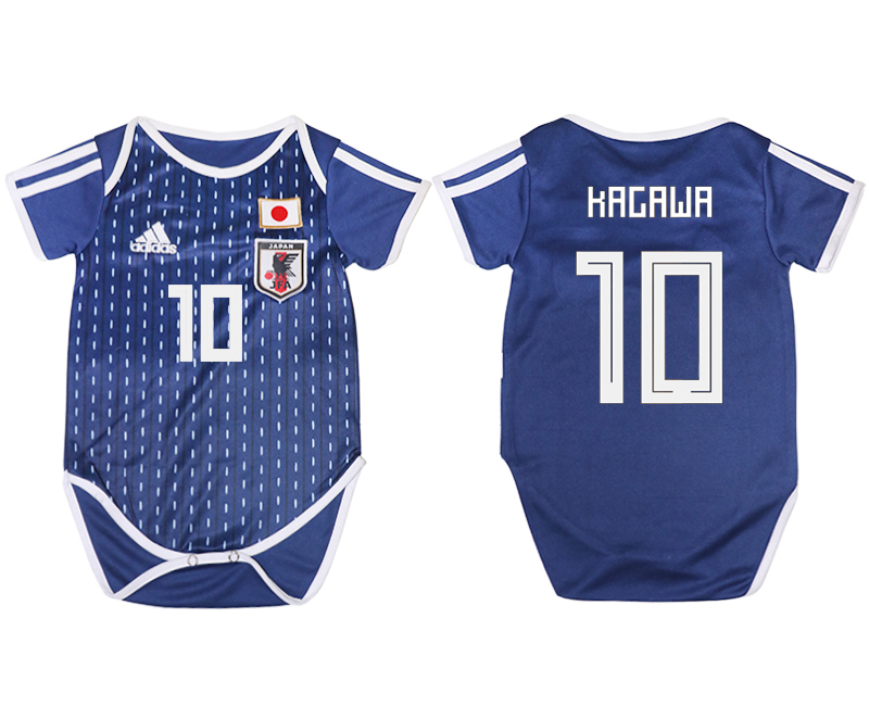 2018 World Cup Japan home baby clothes 10 blue soccer jersey