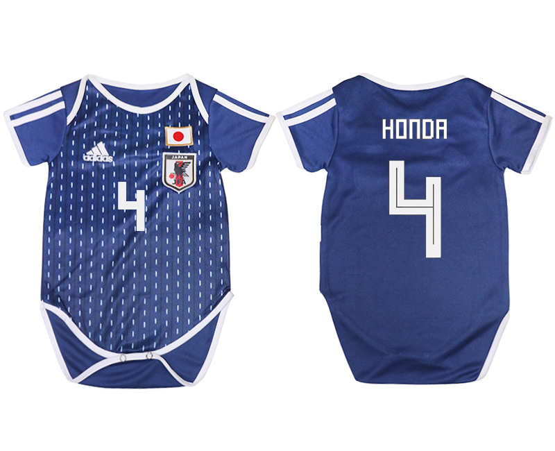 2018 World Cup Japan home baby clothes 4 blue soccer jersey